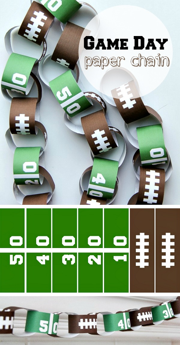 Game Day Paper Chain with Free Printable