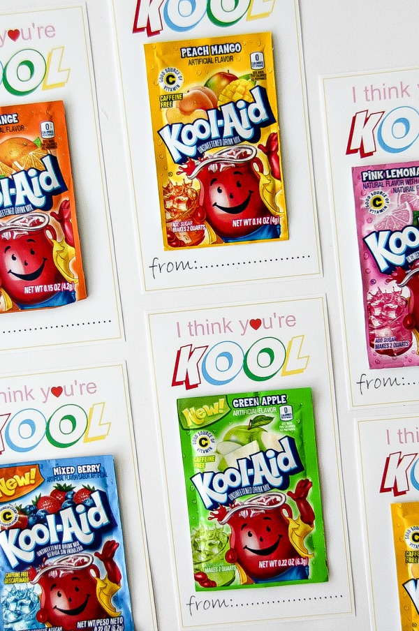 printable I think you're kool cards with packets of Kool-Aid attached
