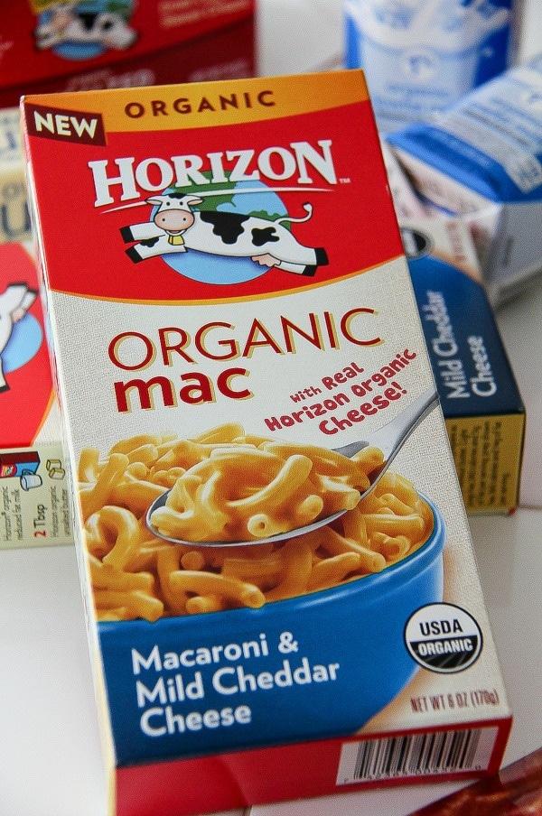 a box of horizon organic mac & cheese