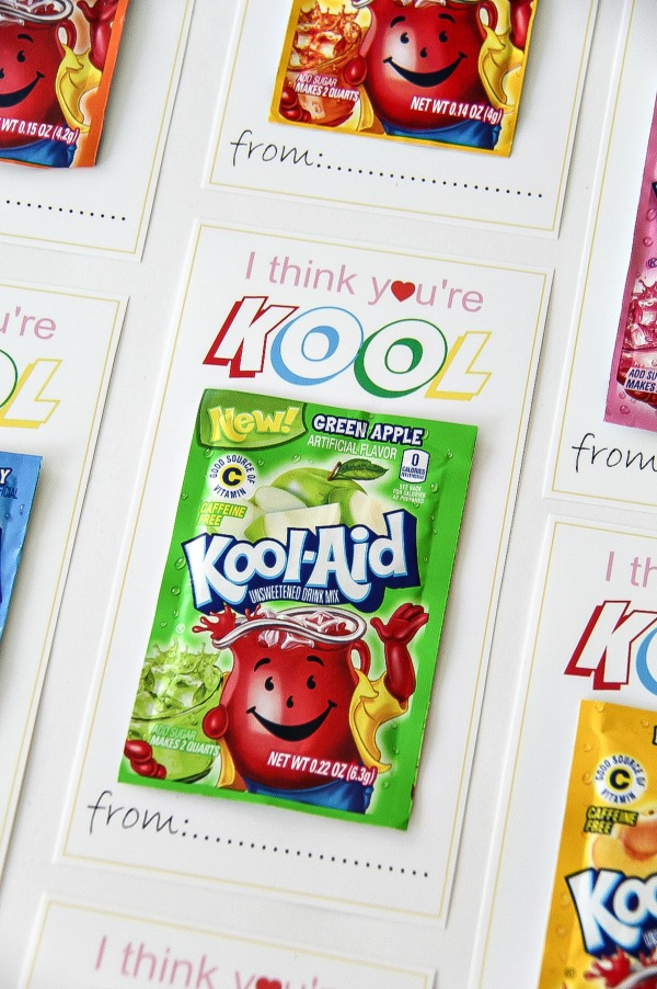 I thing you're kook cards with packets of kool-aid