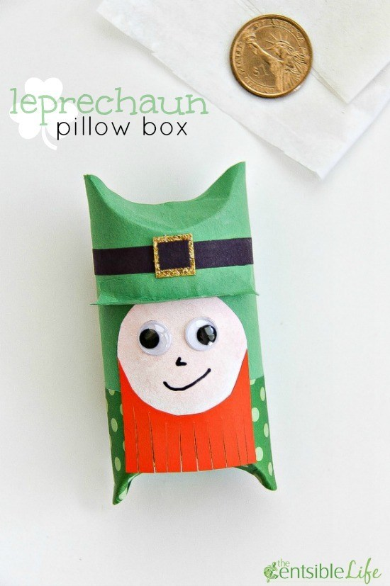 leprechaun pillow box craft