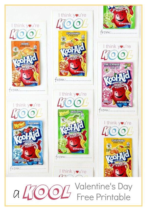 packets of kool-aid on printable valentine's day cards