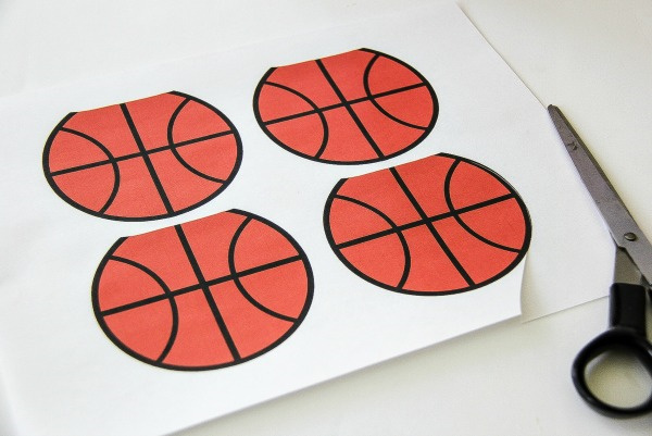 basketballs printed on paper