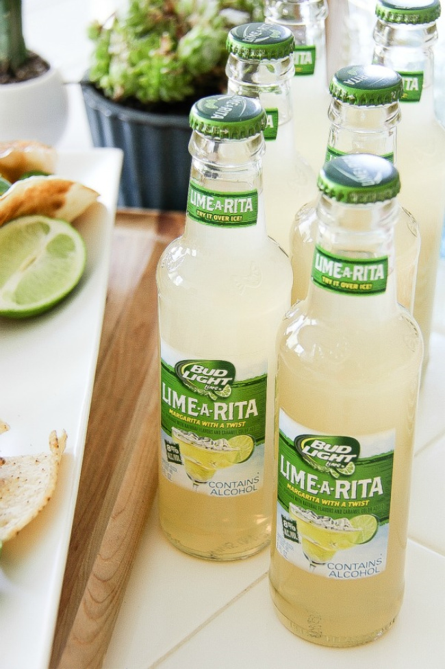 bottles of bud light lime-a-rita