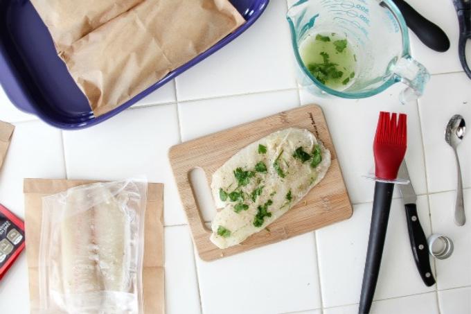 tilapia with a cilantro marinade