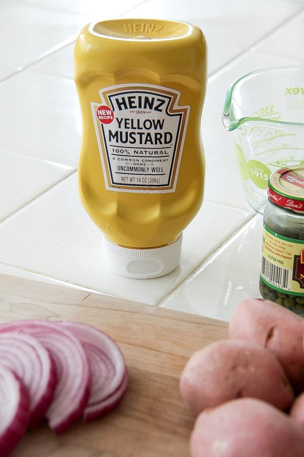 heinz yellow mustard bottle