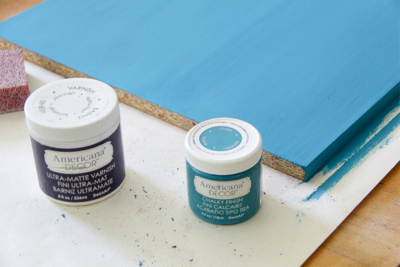 americana decor chalky finish paint in blue