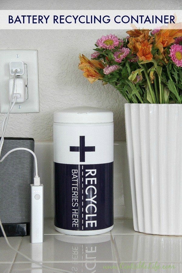 battery recycling container for home