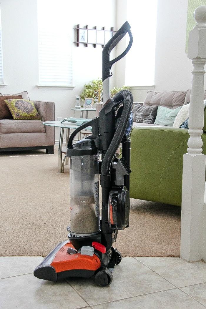 eureka vacuum in a living room