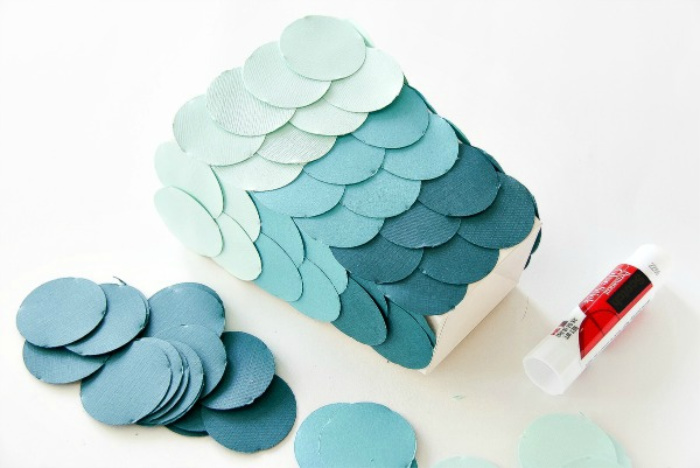 blue ombre snack tub