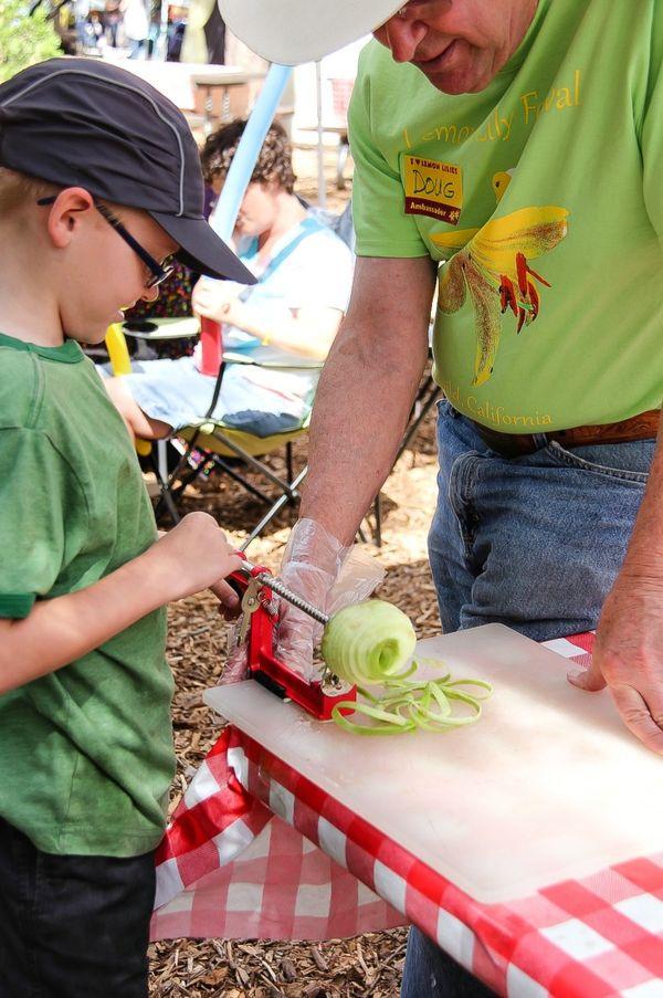 boy coring an apple