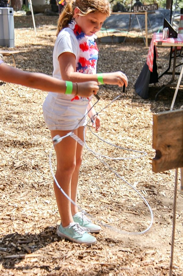 girl twirling ropes