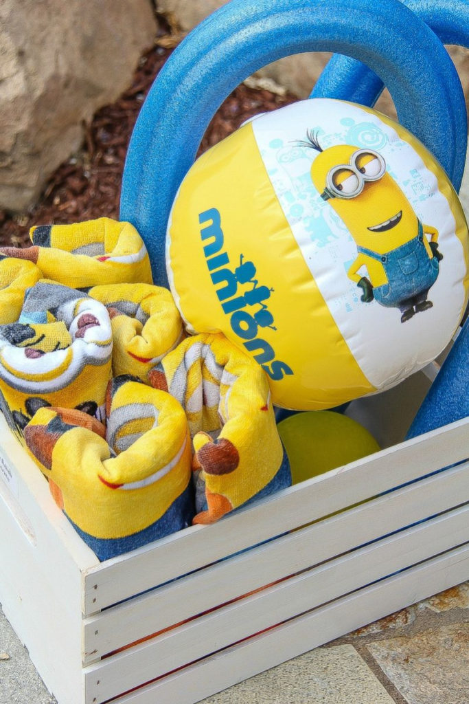 minions beach balls and towels