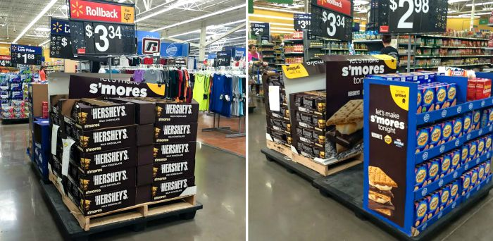 s'mores display at walmart