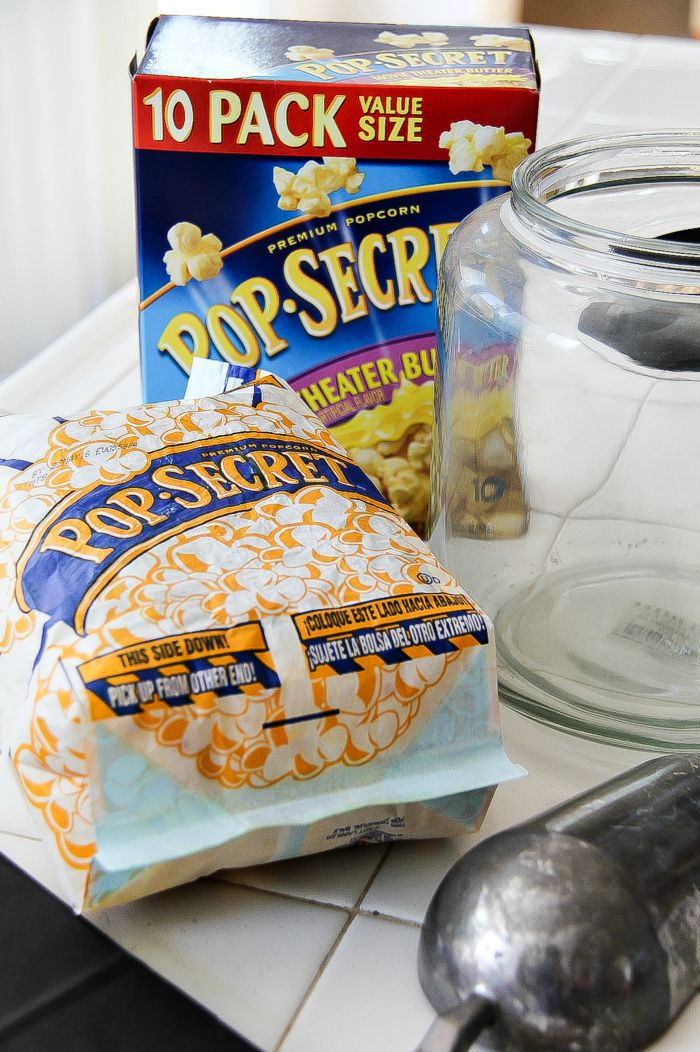 Pop Secret microwave popcorn bag