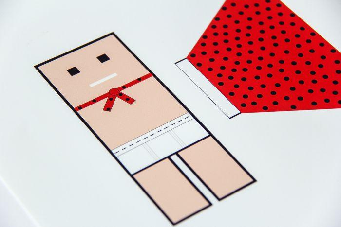 paper cutout of a captain underpants bookmark