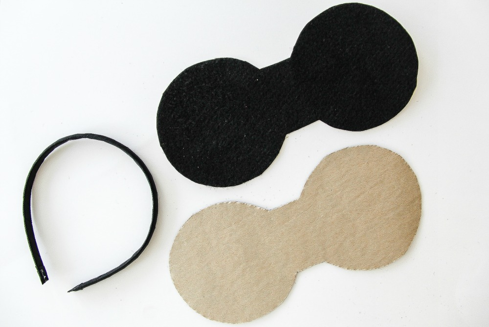 mickey mouse ear shapes cut out of felt