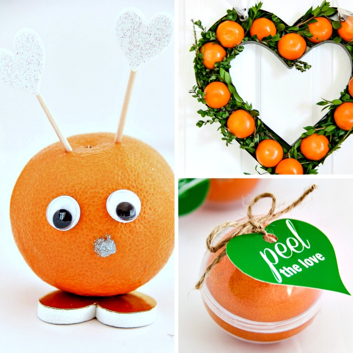 valentine's day crafts using Halos mandarins