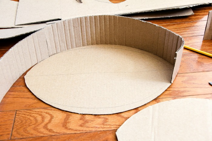 instructions for making a pinata football