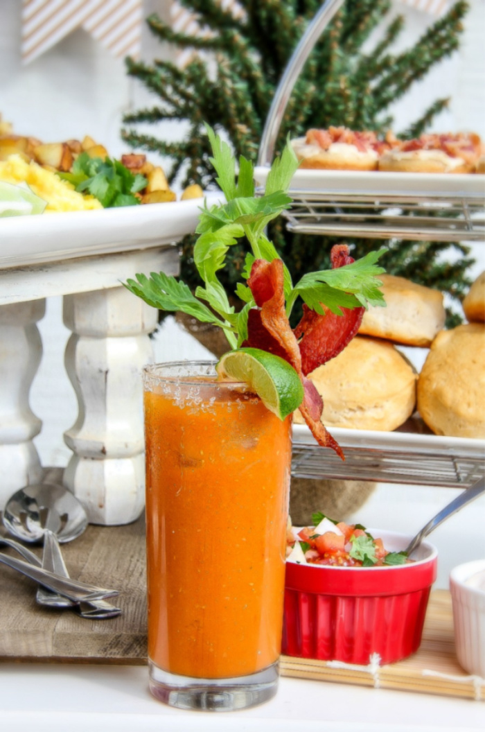 Bacon bloody mary recipe for brunch.