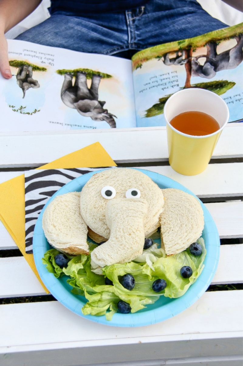 Baby animals elephant lunch for kids paired with Goodnight Baby Animals book