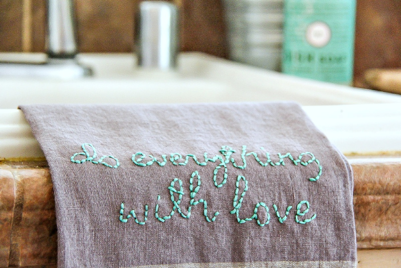 handmade embroidered kitchen towels