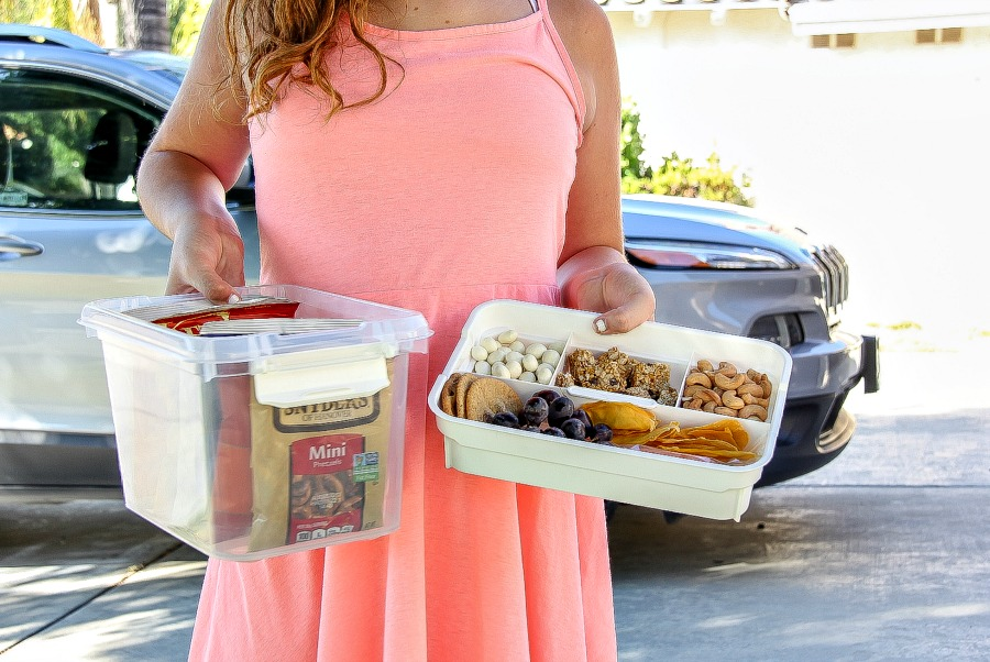 road trip snack tubs for kids