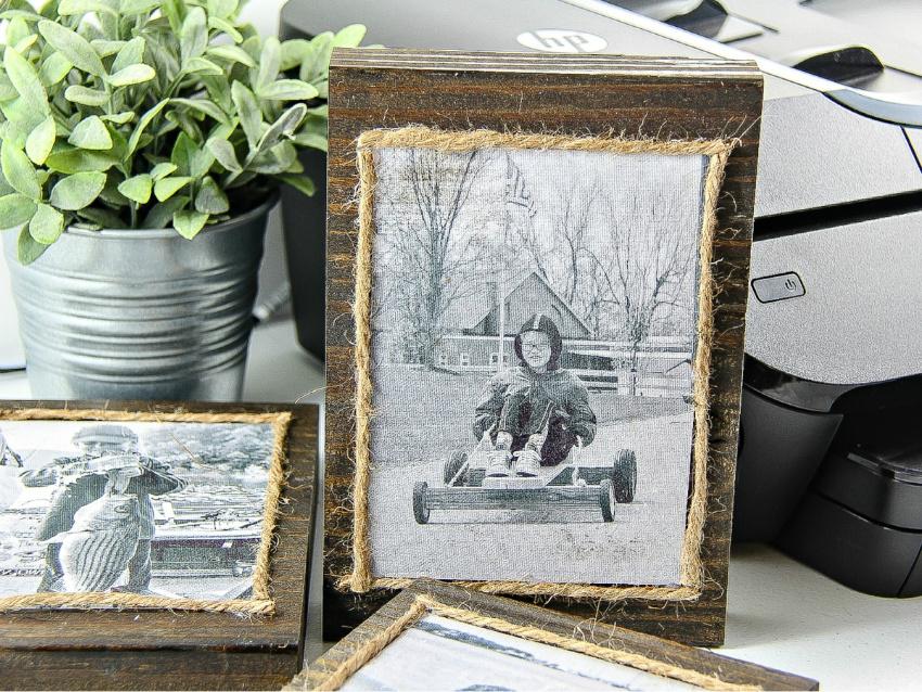 Diy Wood Block Photo Frames Tonya Staab