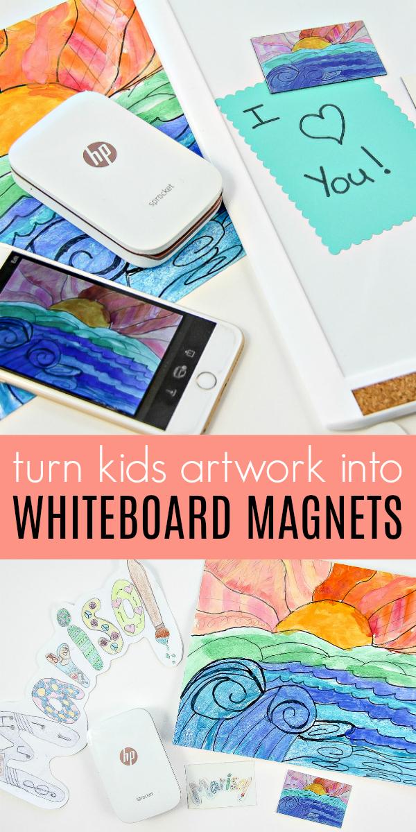 display kids art Pinterest image