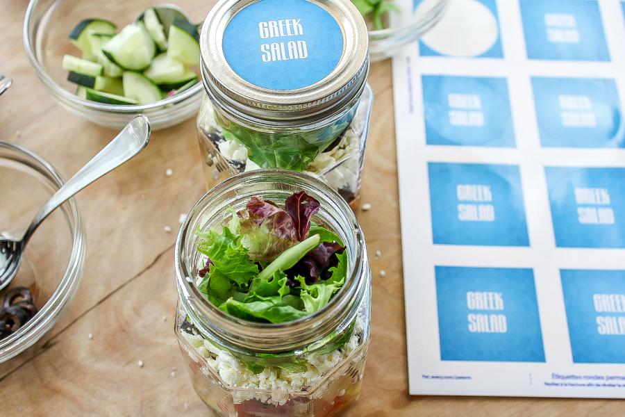 Diy Salad Jar Labels Tonya Staab
