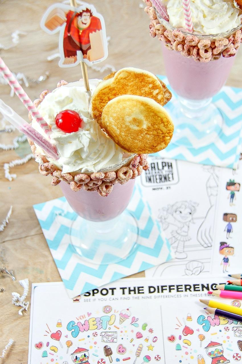 Breakfast milkshakes inspired by the Wreck It Ralph movie.