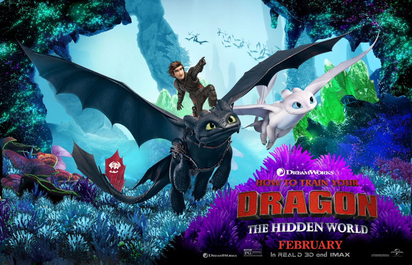 How to Train Your Dragon The Hidden World movie poster.