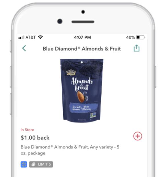 Ibotta deal for Blue Diamond Almonds