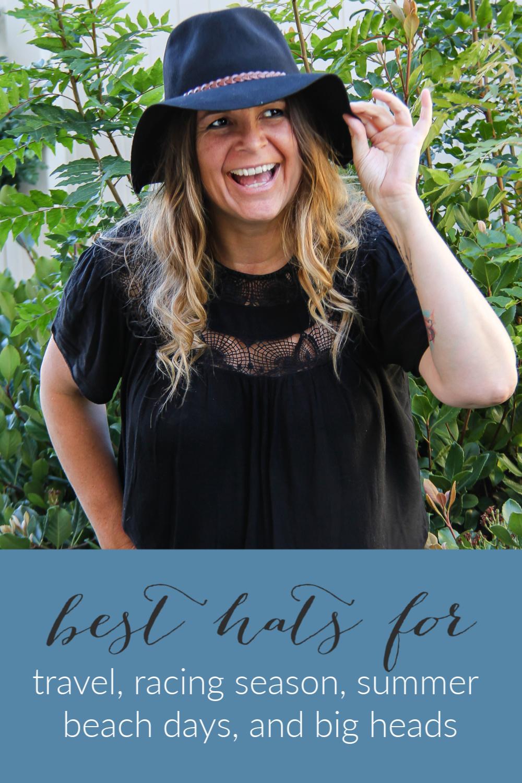 Hats for women Pinterest image