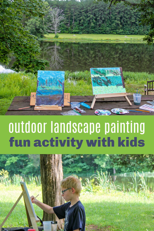 outdoor landscape painting Pinterest image