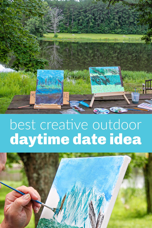 Daytime date landscape painting idea Pinterest image