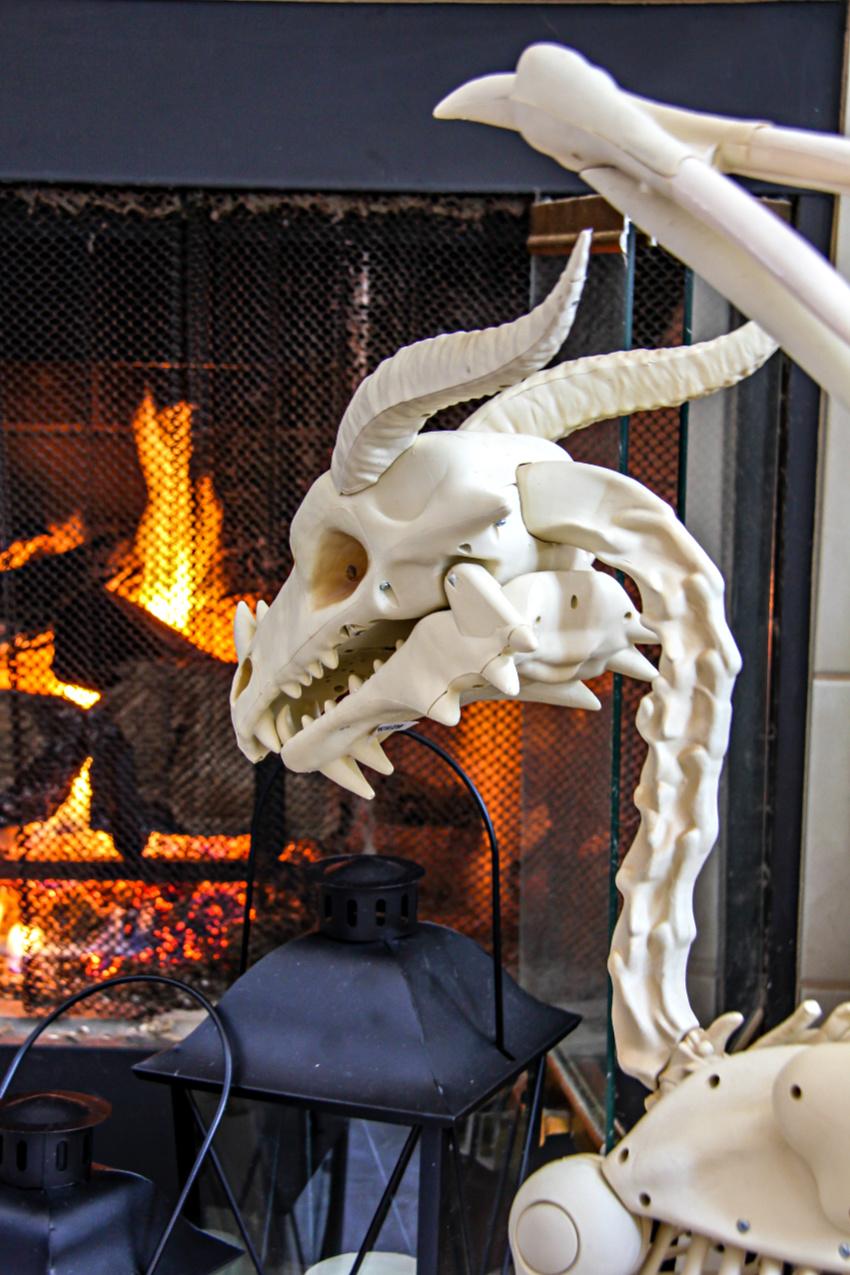 a dragon skeleton for Halloween.