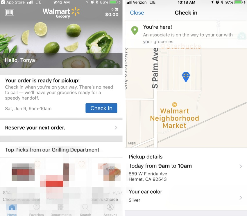 How to know when your Walmart online order is ready to be picked up.
