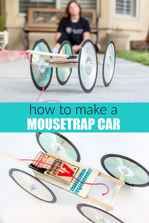 Mousetrap car Pinterest image