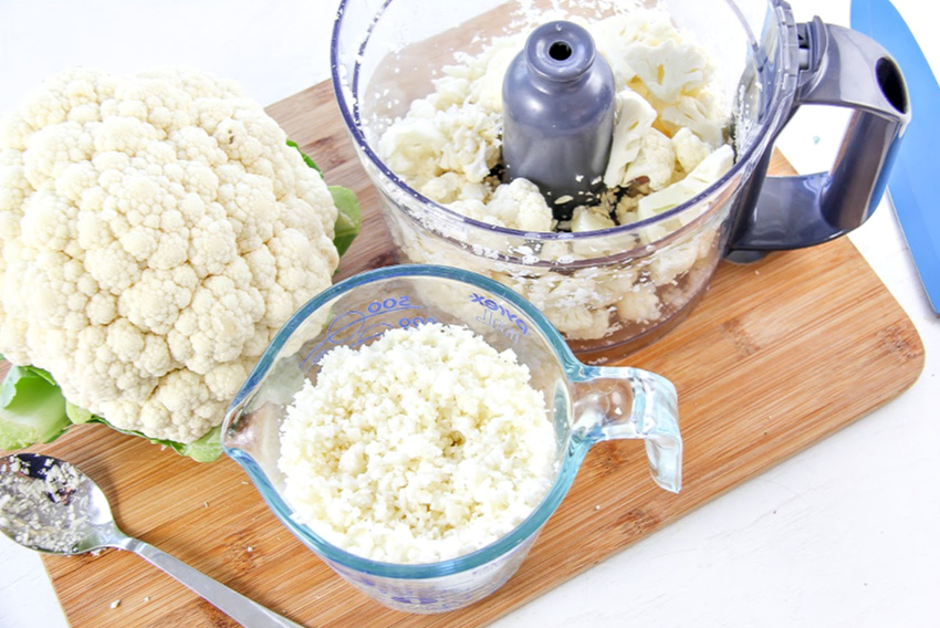 How to blend cauliflower to make pizza