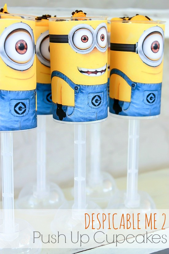 Despicable Me 2 Party Push Up Cupcakes Free Printable Tonya Staab