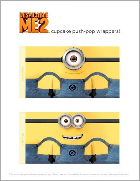 This is an image of Minion Template Printable throughout editable