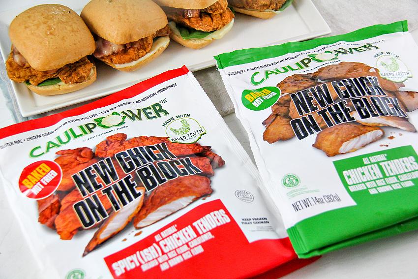 Caulipower chicken tenders in original and spicy.