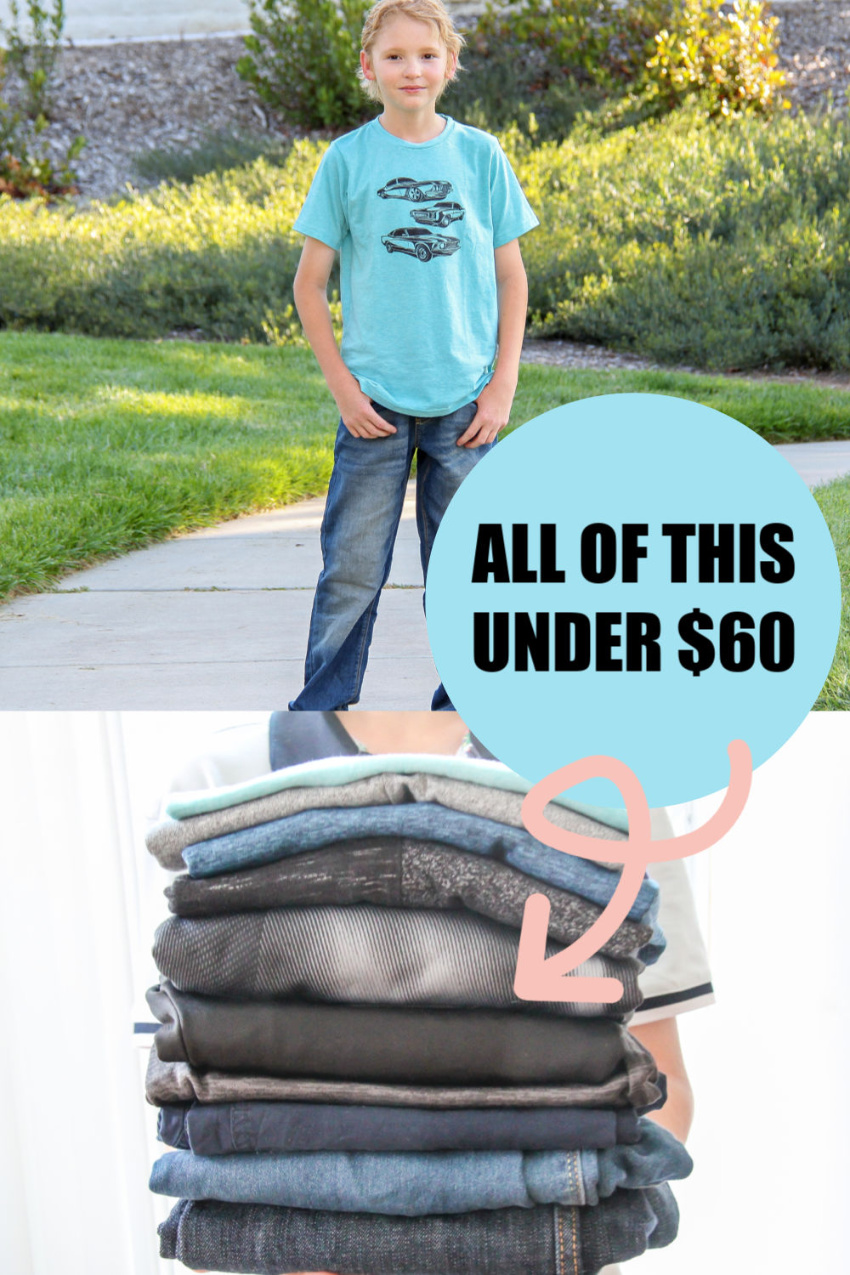 cheap kids clothes online Pinterest image