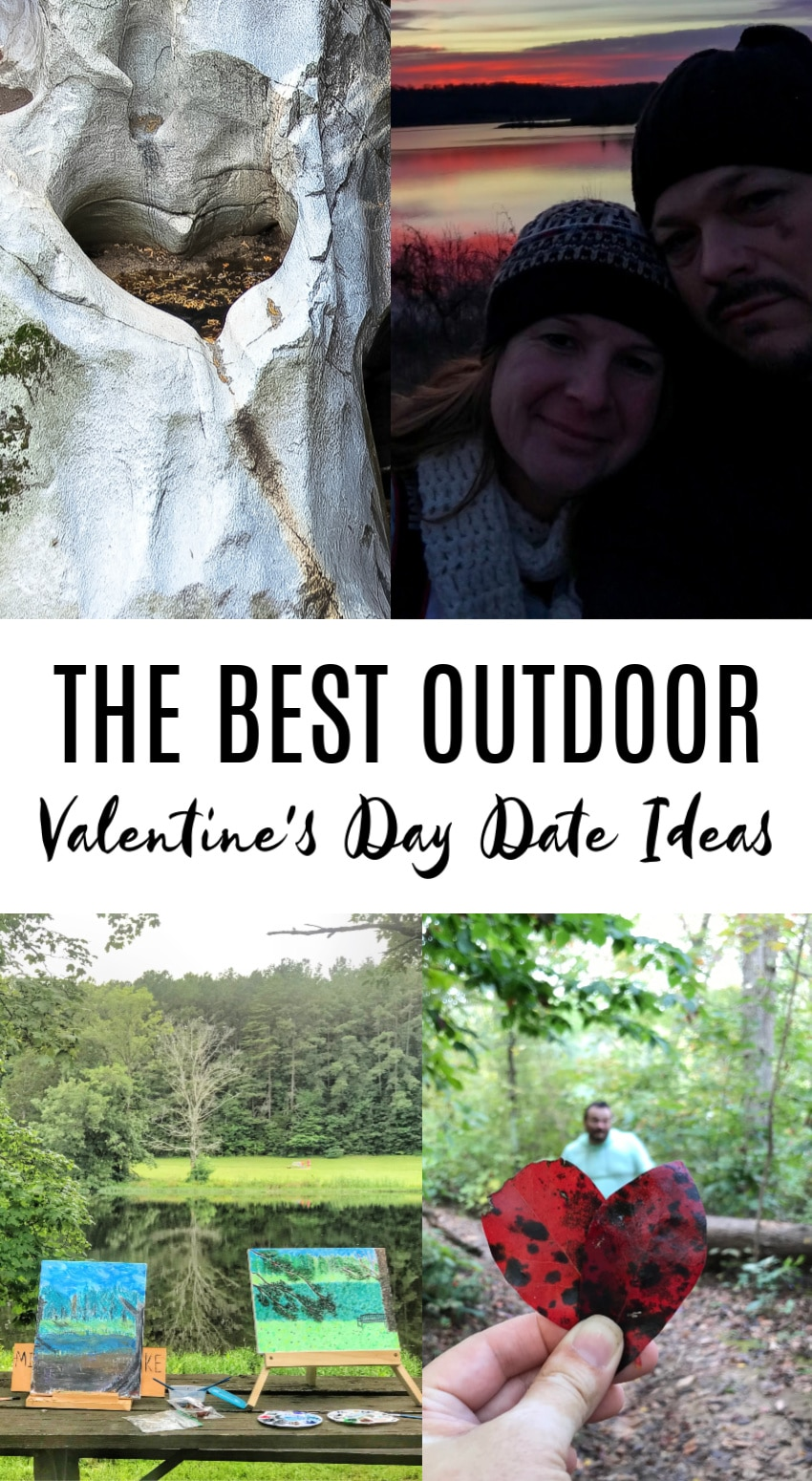 Outdoor Valentine's Day date ideas Pinterest image.