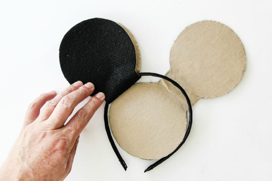 instructions to make mickey mouse ear headband