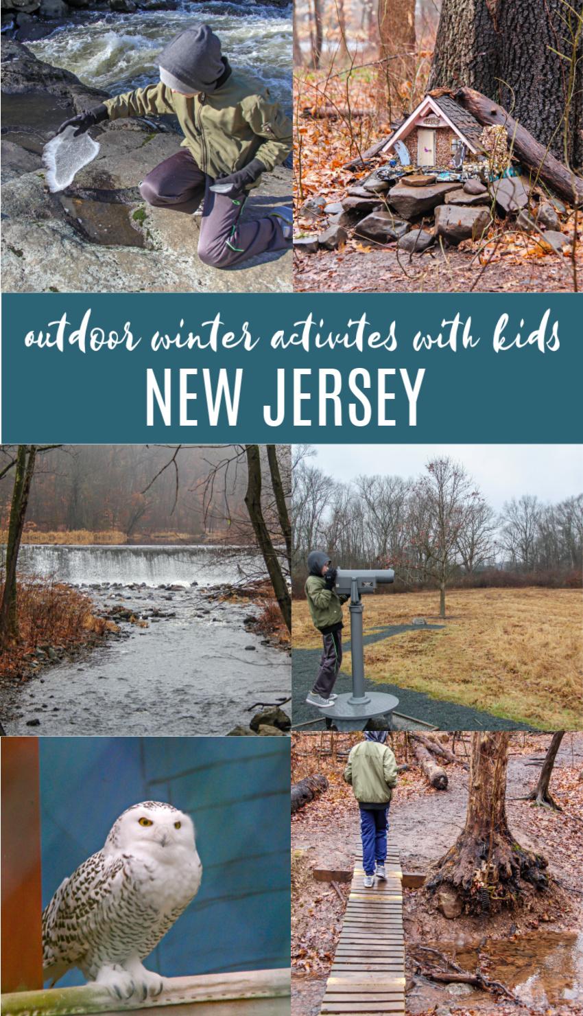 outdoor winter activities in New Jersey Pinterest image