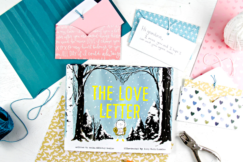the love letter book for kids with handmade envelopes and note cards
