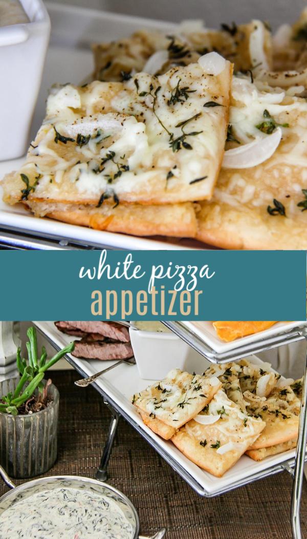 recipe for white pizza Pinterest image