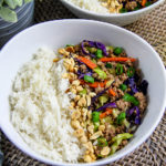 ground turkey with cabbage and rice stir fry